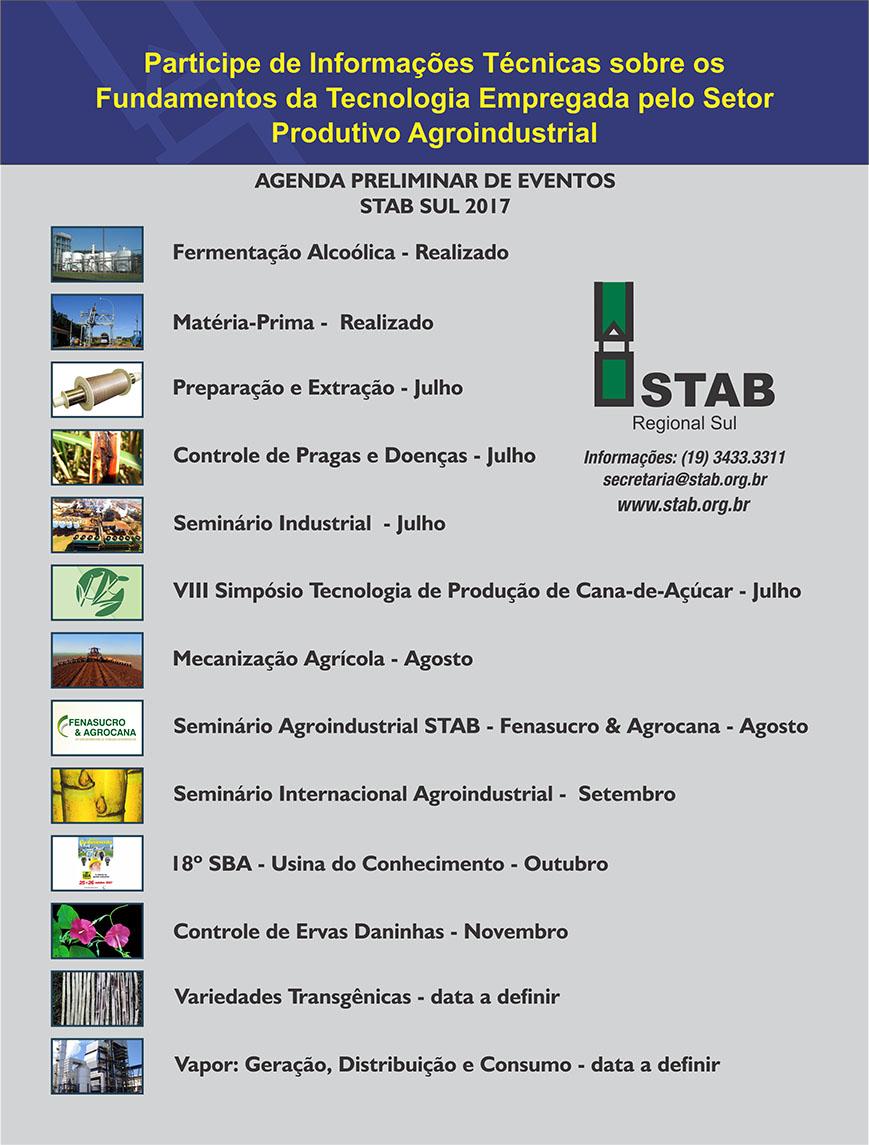 Agenda STAB Sul 2017